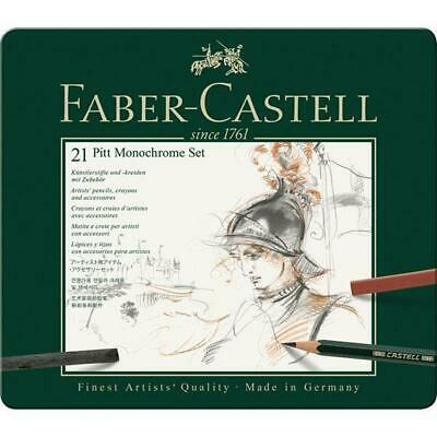 Faber-Castell PITT Mixed Media Set Monochrome - Tin Box 21