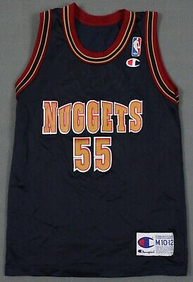 dd84d539506 Dikembe Mutombo Denver Nuggets VTG 90's NBA Champion Jersey Youth Medium  10-12