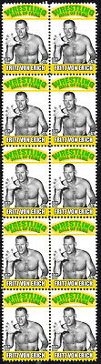 Fritz Von Erich Wrestling Hall Of Fame Inductee Strip Of 10 Mint Stamps