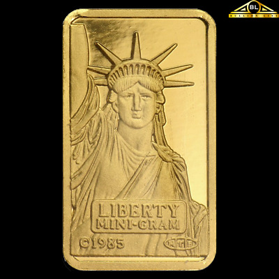 2g Credit Suisse Statue of Liberty Gold Coin (in Assay)