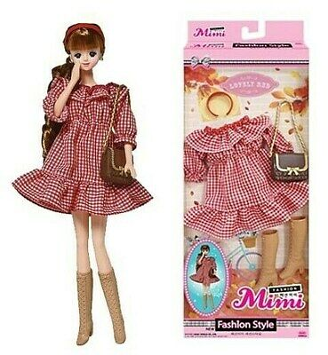 Korean Girl Doll Mimi Clothes & Fashion Accessories set - Lovely Red