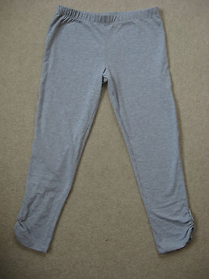 New Girl's Clothes 3/4 Length Crop Leggings Grey Marl  Age 11 - 12 Years Bnwt