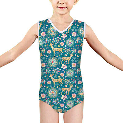 5-14 Y Kids Girls Swimsuit Children Bikini Swimwear Deer Swimmers Bath Summer