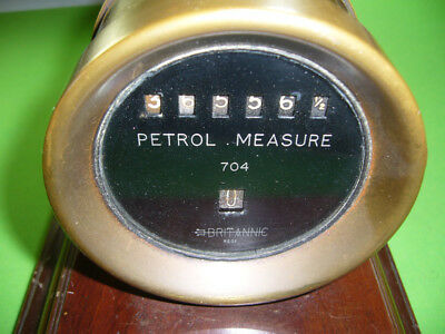 Altes Instrument Messinstrument PETROL MEASURE 704 BRITANNIC. evt Benzinuhr