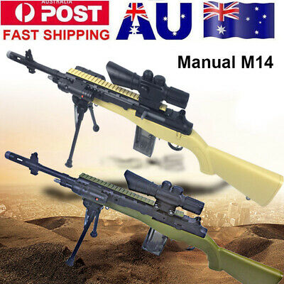 Manual M14 Mag-fed Gel Ball Blaster Water Dart Toy Sniper AU Stock