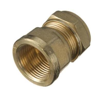 """2 Compression 15mm Copper -1/2"""" BSP Brass Female Iron Thread Connector Adapter"""