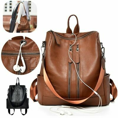 Vintage Backpack Bag Zaino Donna Ragazza Pelle Borsa Zainetto Casual Viaggi IT