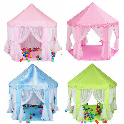 Pink Kids Play Tent Fairy Princess Girls Boys Hexagon Playhouse House for Gift