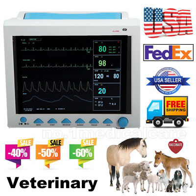 Animal vital signs patient monitor NIBP SPO2 PR RESP TEMP ECG, Veterinary pet