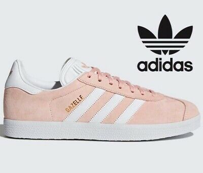 🔥 Adidas Originals GAZELLE Leather ® ( Men Size UK: 9 & 10 ) Vapour Pink Gold
