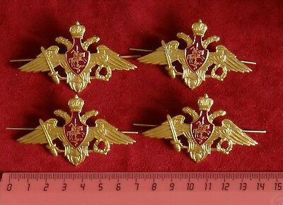 4 PCS Soviet Russian Army USSR Military Eagle Crown Badge for Hat / Cap badge