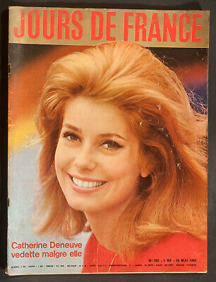 'jours De France' Vintage Magazine Catherine Deneuve Cover 19 May 1962