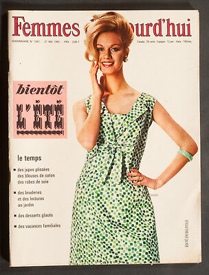 'Femmes D'auourd'hui' French Vintage Magazine Pattern Summer Issue 27 May 1965