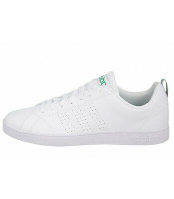 low priced 0b31d 779b3 Adidas neo Advantage Clean F99251 Sneakers Pelle Bianco Verde Modello Stan  Smith