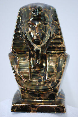 Sphinx Pharaoh Head Ceramic Statue Figurine