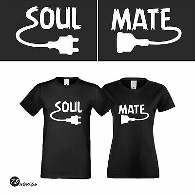 e221772a06 Soul Mate New Couple Tshirt His Her Love My Valentine's Day Matching Tshirt  Love
