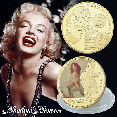 WR Marilyn Monroe US Star Gold Foil Commemorative Coin Collection Gift Souvenir