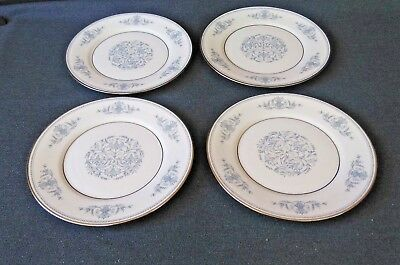 "Oxford Bone China by Lenox Bryn Mawr ~ 8 1/8"" Salad Plates Set of 4"