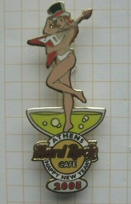 HARD ROCK CAFE / ATHENS 2005 CHAMPAGNE GIRL HAPPY NEW YEAR ...HRC Pin (183g)