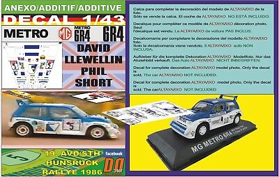 01 1986 WINNER ANEXO DECAL 1//43 MG METRO 6R4 B.COLEMAN DONEGAL R