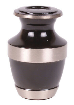 Mini Keepsake Cremation Urn for Ashes Funeral Memorial small urn token urn Black
