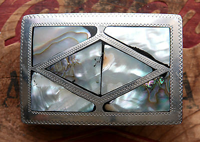 Vintage Hand Made Abalone Inlay Western Belt Buckle