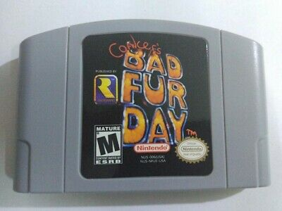 Conker's Bad Fur Day For Nintendo 64 Video Game Cartridge N64 Console US Version