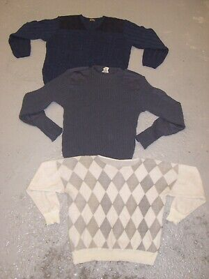 Vintage Wholesale Lot 80's Printed Grandad Knit Sweater Coogi Style x 100