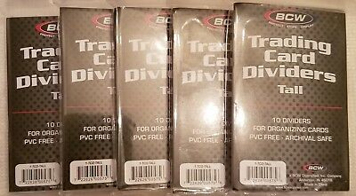 Trading Card Storage Box Dividers Tall x 100 pack