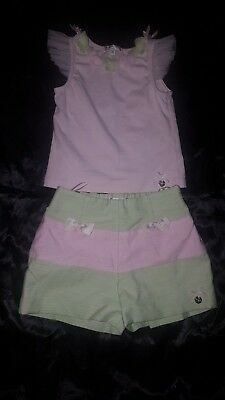 girls butterscotch outfit age 4 shorts and top set