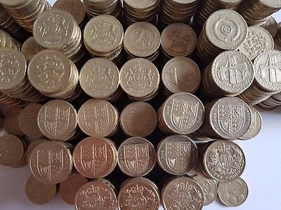 Old 1 Pound Coins Selection Circulated 1983 - 2019 Round £1 Coin Hunt