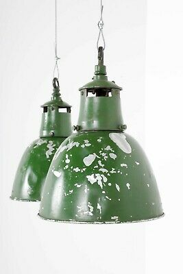 Green Industrial Holophane Pendant Hanging Lights