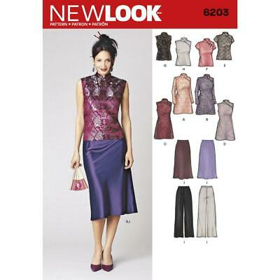 New Look Sewing Pattern 6203 Misses Special Occasion Dresses Size 8-18 Uncut