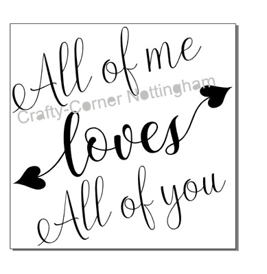 vinyl decal sticker Ikea frame size - All of me loves all of you  Valentines