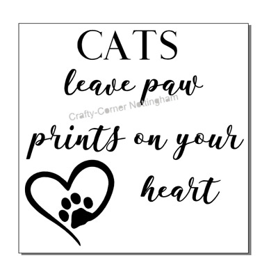 vinyl decal sticker Ikea frame size - Cats leave paw prints on your heart