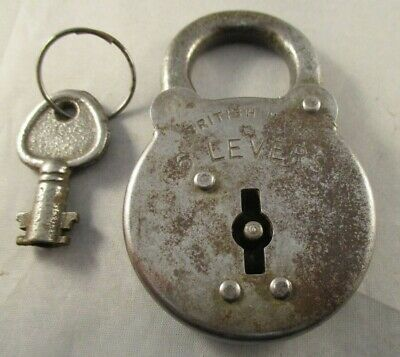 Vintage Retro 6 Lever Padlock with Single Key - Made In Gt Britain
