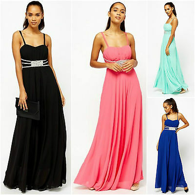 Women Maxi Black Pink Navy Blue Pink Teal Pleated Flared Diamonds Swing Dress