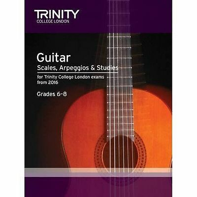 Guitar & Plectrum Guitar Scales & Exercises Grade 6-8 from 2016 by Trinity...
