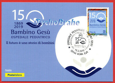 POSTCARD FDC 150 HOSPITAL BAMBINO GESÙ 2019 ITALY JOINT Vaticano First Day Cover