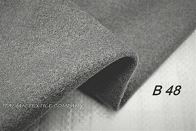 Dark Grey Wool & Cashmere Luxury Robust Heavy Melton Made In Italy B48