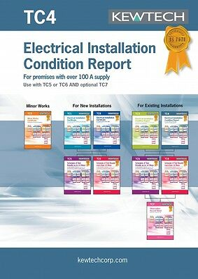 Kewtech TC4 Electrical Installation Condition Report for Premises over 100A Sup