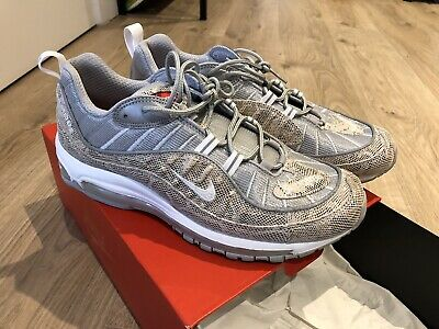 new arrival ab7b4 bf800 Nike Air Max 98 Supreme Snake Skin Size UK9.5 Amazing Condition