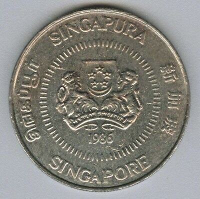 Singapore  -  50 Cents 1986 Coin Money