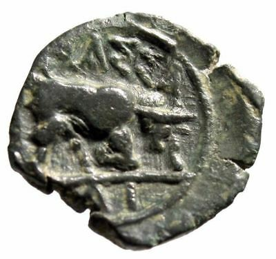 "Gaul, Massalia AE14 ""Apollo & Bull Butting Right"" Good VF"