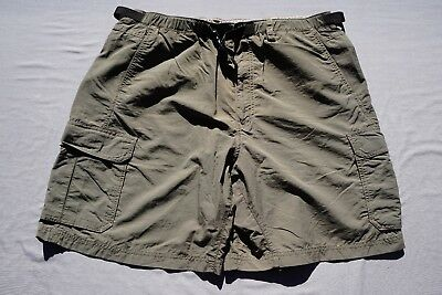 bc1f0a89b1 REI Elastic Waist Belted Lightweight Nylon Hiking Cargo Shorts. Olive, Men's  XL.