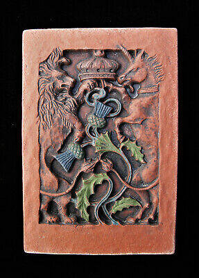 Lion Unicorn Scottish Thistle  Arts And Crafts  Gothic Ellison Tile