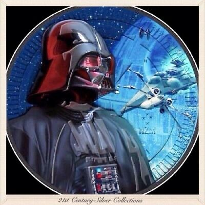 2017 1 Oz .999 Silver Star Wars Darth Vader X-Wing Black Ruthenium Coin