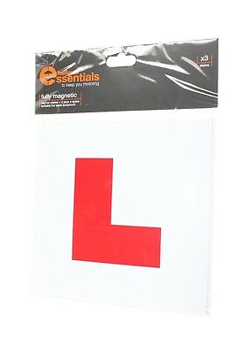 Halfords X 3 Fully Magnetic Learner Plates New Genuine Global Shipping