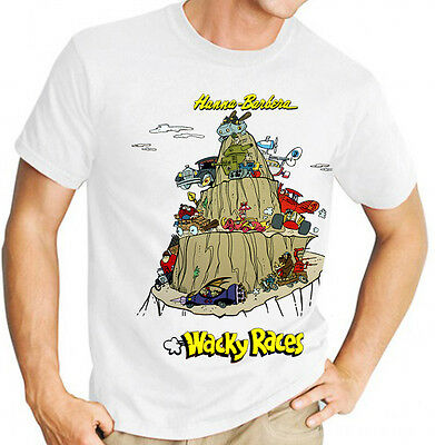 Hanna Barbera Wacky Races Classic Kids TV Men's T Shirt