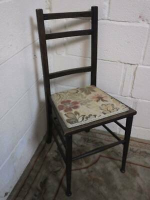 Solid Oak Bar Backed Late Victorian Hall / Bedroom Chair.